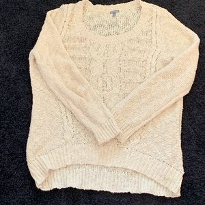 Charlotte Russe cream cable sweater